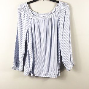 Old Navy Striped square neck top size L